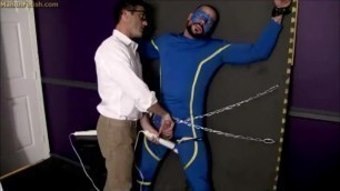 True Blue Superhero Milked to Defeat