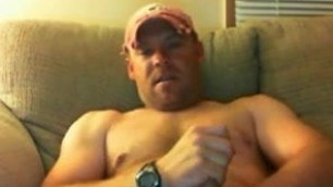 muscle daddy working his cock