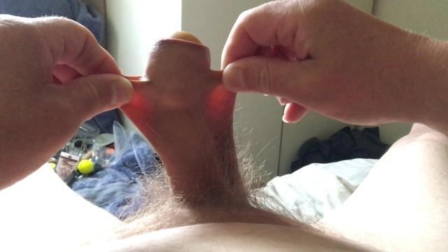 Stretch foreskin - rubber egg