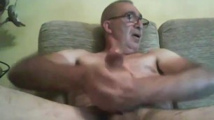 Sexy daddy enjoys his big dick