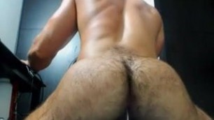 hairy muscle-ass